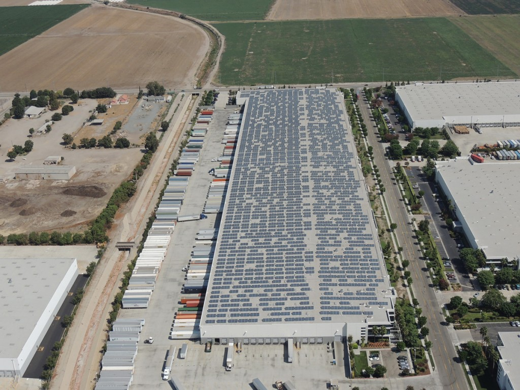 1.90 MW roof mounted, solar PV project located in Chino, CA