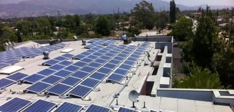 Los Angeles, California 84-kW solar panels